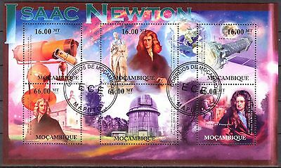 Mozambique 2012 Space Physic Isaac Newton sheet of 6 used