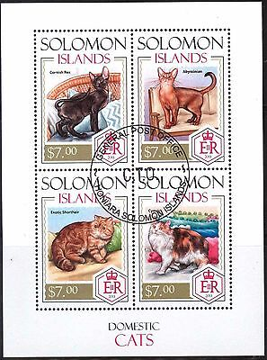 Solomon 2013 Cats Sheet of 4 Used