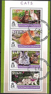 Solomon 2015 Cats Sheet of 4 Used