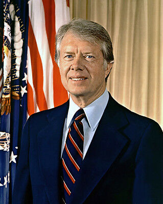 39th US President JIMMY CARTER Glossy 8x10 Photo Poster Political Print