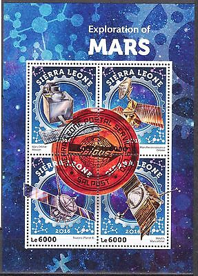 Sierra Leone 2016 Space Conquest of Mars Sheet of 4 Used