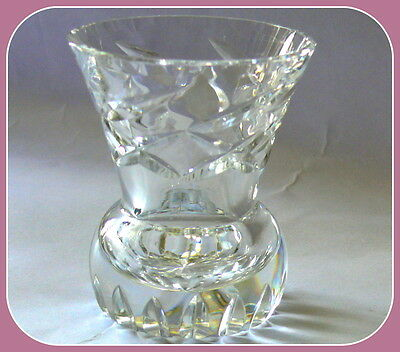 Flower Vase Small Crystal Cut Glass