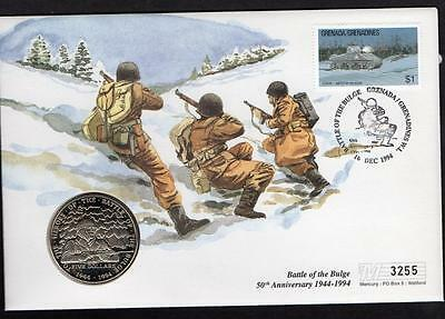Marshall Islands/Grenada 1994 Battle of the Bulge $5 Coin Cover