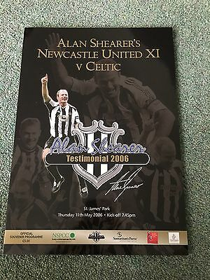 ALAN SHEARER TESTIMONIAL V CELTIC programme (1st Release) 11th May 2006