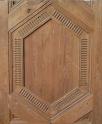 BEAUTIFULLY CARVED RECLAIMED THICK PINE PANELLING VARIOUS SIZES ref 519