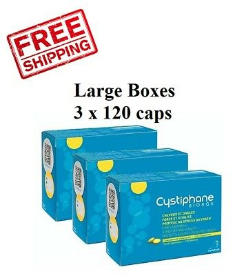Cystiphane Biorga 360 Tabs. (3 x 120!) Laboratoires Bailleul Food Supplement