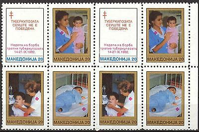 Macedonia 1992 Red Cross  Fight against Tuberculosis x 2 sets MNH**