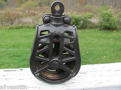 Antique Cast Iron Pulley & Swivel for Hay Barn Rope