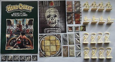 RETURN OF THE WITCH LORD Heroquest Expansion, Complete, Mostly Unpainted, No Box