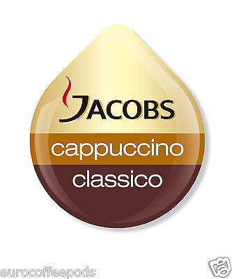 Tassimo Jacobs Cappuccino Coffee 24 T-Disc 12 Servings Sold Loose