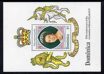 Dominica MNH 1978 The 25th Anniversary of Coronation of Queen Elizabeth II M/S