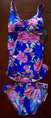 NWT Motherhood Oh Baby Floral Maternity Tankini Swimsuit Size Large L $60