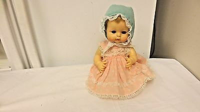 """1965 Alexander Marked  12"""" Drink & Wet Baby Doll Kathy Style"""