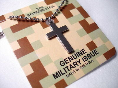 GI JEWELRY, Standard Military Cross Brite Finished 100% 304 Stainless Steel