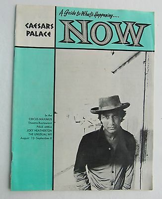 Booklet For What's  Happening Now Caesars Palace Las Vegas  Aug 1971