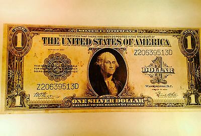 Circulated 1923 Silver Certificate $1 large Size note bill VF VERY FINE