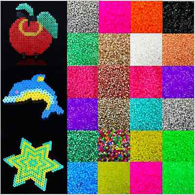 Candy Color Plastic Hama Perler Beads For Educate Kids Child Gift 1000pcs 5mm