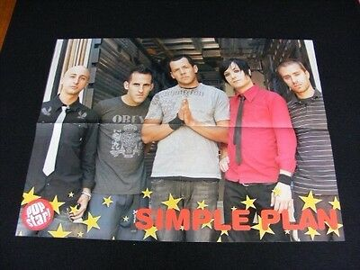 SIMPLE PLAN magazine clippings lot No1 with POSTER