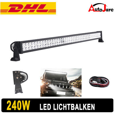 "42"" 240W Flood&Spot LED Light Bar Off road roof Lamp 12v 24v With Free Cables"