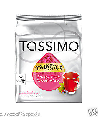 Tassimo Twinings Fruit of Forest Tea - Pack of 5 (5 x 16 t-disc)