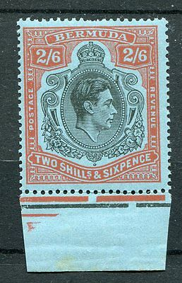 Bermuda KGVI 1938-53 2s6d black & red on pale blue SG117b MNH margined