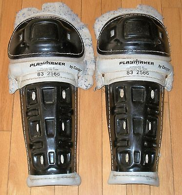 """VTG Playmaker by Cooper 83 2566 Hockey Shin Pads Senior 15"""" 1970s Canadian Tire"""