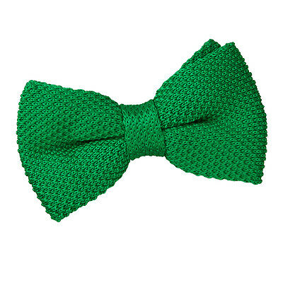 New Dqt Knitted Men's Pre-Tied Bow Tie - Forest Green