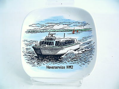 HOVERSERVICE HM2 (Red Funnel) Commercial Hovercraft Small Ceramic Dish 1980s?