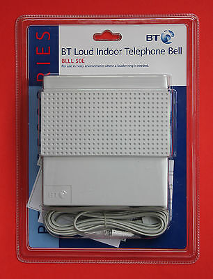 "BT Loud Indoor Telephone Bell 50E ""BRAND NEW & SEALED"" Free 1st Class Post!"