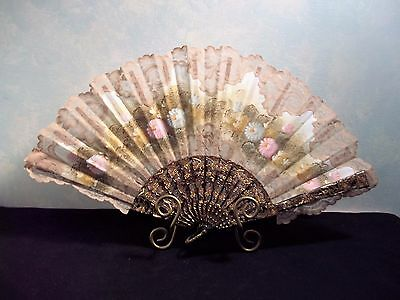 Hand Fan By Giner Flowered