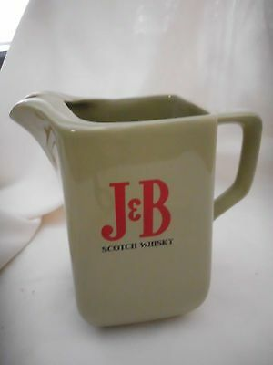 J & B Scotch Whisky Porcelain Water Jug By Wade Of England