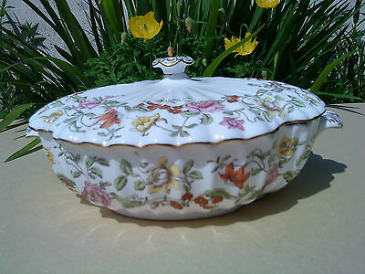 """Spode China 'Floral Tapestry'  10"""" vegetable tureen"""