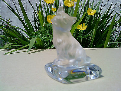 Dog On Cushion Figure - Crystal Creatures - Nachtmann- Signed & Labelled