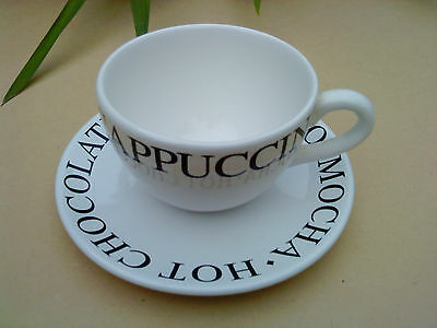 Whittard Breakfast cup and saucer Cappuccino / Hot chocolate / Mocha