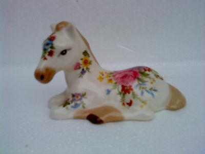 Very Rare Vintage Floral Horse Pony by Szeiler.  Signed