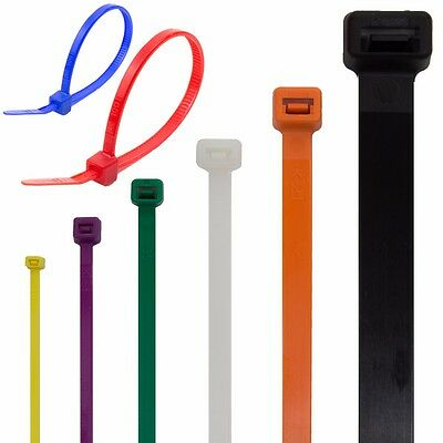HIGH QUALITY ZIP TIES / CABLE WRAPS LONG & WIDE Large White Tidy White Coloured