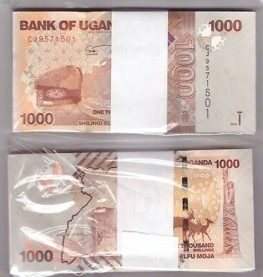 Uganda Full Bundle Of 100 X 1000 Shilling Unc Banknote 2015 (100 Pcs.) P49