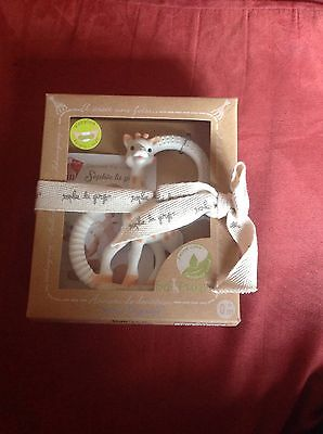 NEW Sophie So' Pure Teether Vulli Sophie la Girafe Soft Natural Rubber Baby Toy