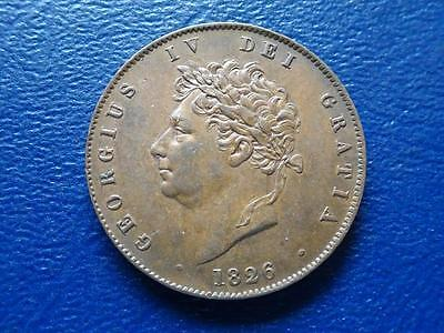 Great Britain - George Iv Half-Penny 1826 - Very Nice