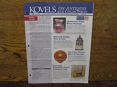 Lot Of 2 Kovels Newsletter For Collectors April & May 2014 Very Good Shape