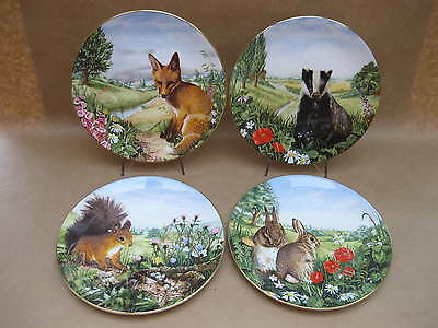 "Set 4 Royal Doulton ""Country Wildlife Collection""  Plates ~ English Bone China"