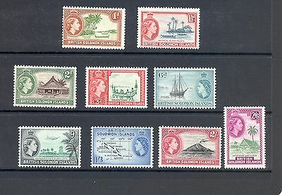 Solomon Islands  Sg 103-11 1963-4 Definitve Set Of 9 Mnh