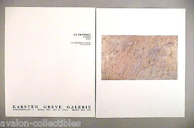 Cy Twombly Art Gallery Exhibit Double-Page PRINT AD - 1989