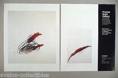 Cy Twombly Art Gallery Exhibit Double-Page PRINT AD -- 1989