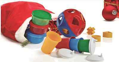 Tupperware Shape o Toy Ball~Bell Tumblers~Domed Lids~Ideal Bowls Gift Set NEW