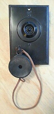 Vintage Couch Brand Wall Mount Speaker Box w  Hanging Earpiece Telephone