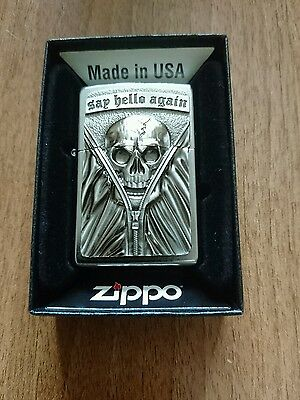 Say hello again zippo lighter new with box and guarantee.