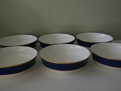 6 Cathy Hardwick for Mikasa Cobalt Blue Coupe Soup Bowls - 2 Sets Available