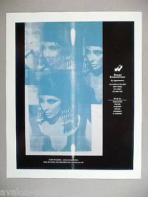 Andy Warhol Art Gallery Exhibit PRINT AD - 1989 ~~ Liz As Cleopatra
