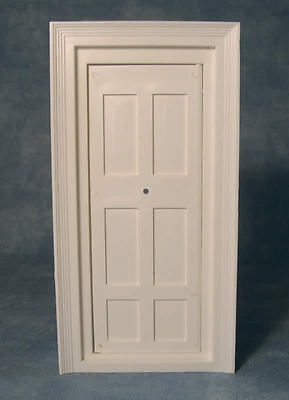 Plastic Door & Frame, DIY Dolls House Miniature Fixture, 1.12 Scale